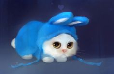 Tag for cute animal cat dog cute cat dog wallpaper free hd Cute Kittens, Cute Cats And Dogs, Rabbit Drawing, Cat Drawing, Bunny Art, Cute Bunny, Ostern Wallpaper, Costume Chat, Rabbit Costume