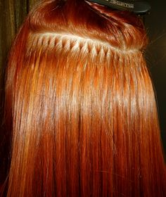 Hairdreams Extensions / Application / Bond / Red Head