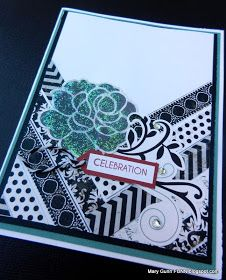 """Mary Gunn FUNN: How-to Use Scraps of Paper to Make """"V"""" Neck Cards!"""