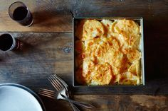 Quick, Make-Ahead Potato Gratin. A potato gratin that cooks in half the time, can be made ahead, and -- best of all -- lets you have control all the way through. Potato Dishes, Potato Recipes, Vegetable Recipes, Vegetarian Recipes, Cooking Recipes, Food52 Recipes, Meal Recipes, Cooking Time, Potatoes Dauphinoise