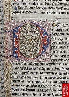 Detail of puzzle initial.    Origin: Netherlands, S. (Ghent)