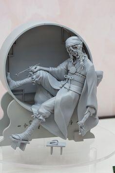 Mononoke - Kusuriuri Zbrush Character, 3d Character, Character Concept, Character Design, 3d Pose, Figure Poses, Chibi Characters, Anime Merchandise, Male Poses