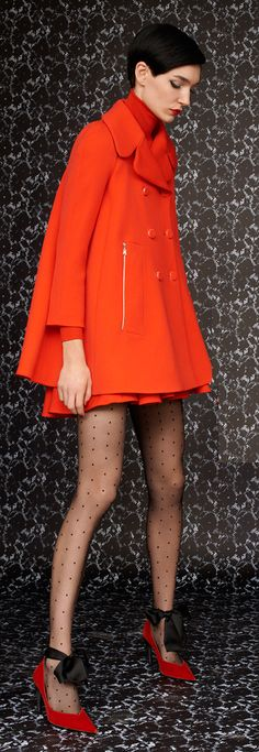 Louis Vuitton Pre-Fall 2013 - LOVE the color, ORANGE is always good and I have an amazing hat in this shade to add to my wardrobe for summer!
