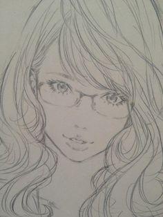 色鉛筆でペン入れ by Eisaku