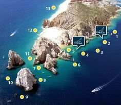 Snorkeling spots around Cabo San Lucas.