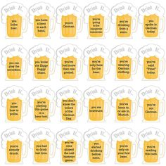 Oktoberfest - Drink If German Beer Festival Party Game - Set of 24 - Sausages - Feierlichkeiten Festival Party, Festival Games, Oktoberfest Party, German Oktoberfest, Tips And Tricks, Moscow Mule, German Beer Festival, Easy Alcoholic Drinks, Blue Drinks