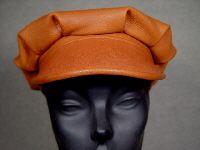 Guffey hat shown in tobacco Leather Hats, Handmade, Hand Made, Craft