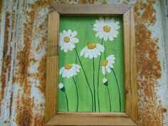 Daisy Painted on Reclaimed Wood with by BarnCountryFurniture