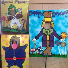 Choose one, two or all three photo props for your Chocolate Factory party! These photo props are each 40 inches tall and 32 inches wide and have been hand painted onto sturdy foam board with acrylic paints. STAND NOT INCLUDED Please let me know your party date at the time of purchase. Thank you