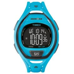 Timex Ironman Sleek 50 Full-Size Watch - Neon Blue