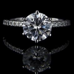 Marilyn - Accented Engagement Ring | MiaDonna.com