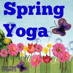 Yoga Poses : Spring yoga theme ideas including breathing technique, yoga pose, and pose flow Kids Yoga Poses, Yoga For Kids, Exercise For Kids, Preschool Yoga, Toddler Yoga, Yoga Games, Childrens Yoga, Yoga Books, Yoga Lessons