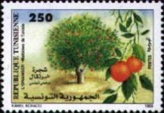 Stamp: Orange (Tunisia) (Fruits trees) Mi:TN 1419,Yt:TN 1354