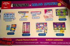 """PENGUINS/SOLAR SYSTEM "" The Mailbox:Theme Kit for Grade 1~ Laminated & Ready   Starting Bid only $4.00 for this Mailbox: ""Penguins & Solar System"" Theme Kits....Great to use in Literacy, Math, Writing Centers....Already Laminated and Ready to go! Brand New!"
