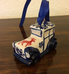 Polish Pottery Car Ornament/Accent by MimisMiniMarketplace on Etsy