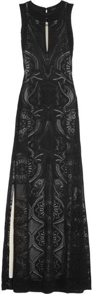 Roberto Cavalli Crocheted Lace Maxi Dress - Lyst