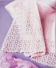 Crochet pink baby blanklet ❤️LCB-MRS❤️ with diagrams ---- Loza: children Blanket