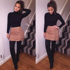winter outfits for work ~ winter outfits ; winter outfits for work ; winter outfits for school ; winter outfits for going out ; Winter Outfits For Teen Girls, Winter Outfits For Work, Dressy Winter Outfits, Fall Skirt Outfits, Winter Skirt Outfit, Summer Outfits, Ladies Outfits, Black Outfits, Fall Party Outfits