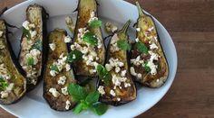 Roasted Eggplant with Feta-Mint Vinaigrette : Recipes : do it Delicious