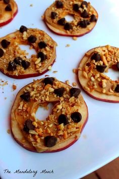 Apple Slice Snacks Healthy School Snacks, After School Snacks, Quick Snacks, School Lunches, Bulgogi, Apple Recipes, Lunch Recipes, Granola Barre, Taco Salat