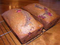 Strawberry bread (makes two loaves)