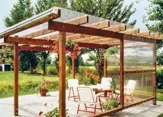 Backyard Patio Designs, Diy Patio, Gazebo Pergola, Pergola Ideas, Yard Sheds, Small Garden Landscape, Garden Styles, Garden Inspiration, Palette