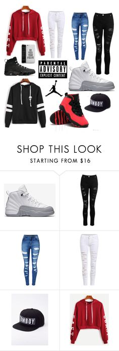 """JORDAN"" by kayleeluger on Polyvore featuring NIKE, Dorothy Perkins, WithChic and Wildfang"