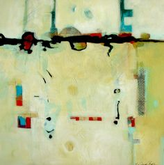 Coming to Terms - Original Abstract Acrylic Modern Art Contemporary Painting by Filomena de Andrade Texas Contemporary Artist, painting by artist Filomena Booth