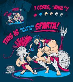 Estampa 'This is (the other side of) Sparta!' no Camiseteria.com. Autoria de Yuri Saluceste (http://cami.st/d/57698)