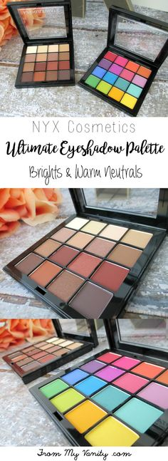 The new NYX Cosmetics Ultimate Shadow palettes are stunning -- that Brights palette is definitely a show stopper!