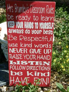Personalized Classroom Rules by TaloolahBelle on Etsy, $24.95