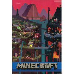 Hot Stuff Enterprise Z135-24x36-NA Minecraft Cube Poster, 24 x 36