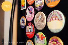 Disney Parks Celebration Buttons to Magnets DIY in 10 Steps! MouseTalesTravel.com  #MTT #disneydiy #easycrafts