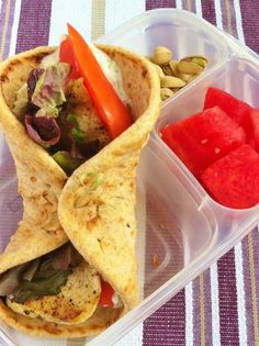 healthy chicken gyro recipe | packed in @EasyLunchboxes containers