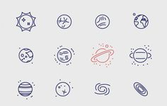 Infinity Space Icons | TheFreebieBay.com