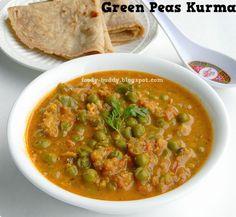 Green Peas Kurma Recipe | Pattani Kurma - Side Dish for Chapathi - FoodyBuddy