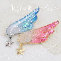 "Lolita wings gradient brooch  Coupon code ""cutekawaii"" for 10% off"