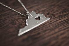 i heart Virginia Necklace - Silver - Virginia State Necklace VA State Charm Personalized Necklace With Heart by truche on Etsy https://www.etsy.com/listing/64291099/i-heart-virginia-necklace-silver