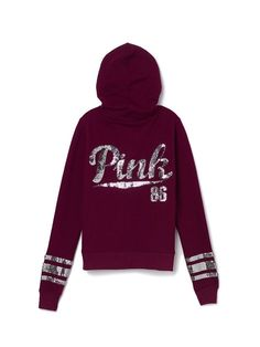 Victoria's Secret Pink Half-Zip Pull Over | Want | Pinterest ...
