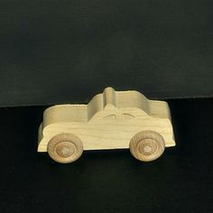 Handcrafted Wood Toy Police Car 149AH-U unfinished or finished by VMWoodFactree for $1.85