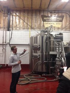 Duncan Clauss, owner, explaining the brew process | Yelp