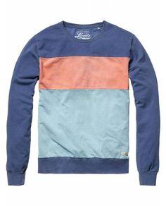 Colour block cut & sewn sweater - Sweaters - Scotch & Soda Online Shop ($50-100) - Svpply