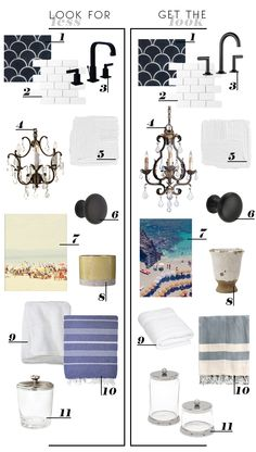 get the look_bathroom - links take you to where you can actually purchase the items. :-)