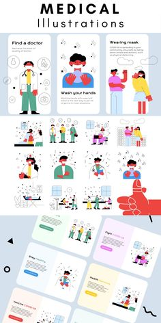 Illustration Styles, Digital Illustration, Health App, Mental Health, Website Clipart, Take Care Of Yourself, How To Introduce Yourself, Medical Illustrations, Case Study Design