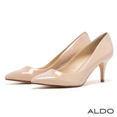 ALDO 經典百搭款原色系弧形流線尖頭高跟鞋~氣質象牙 - Yahoo!奇摩購物中心