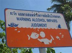 Warning - alcohol may improve the appearance of aquatic life.