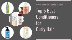Top 5 Best Conditioners for Curly Hair & Frizzy Hair | Shorts - #Shorts Beach Wave Perm, Beach Waves, Natural Hair Conditioner, Deep Conditioner, Curly Hair Styles, Natural Hair Styles, Deva Curl, Frizzy Hair, Natural Curls