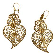 Traditional Portuguese filigree earrings jewelry selissa