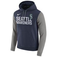 Nike Seattle Mariners Navy Club Fleece Pullover Hoodie