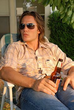 """When he sat in the yard and drank this beer. 